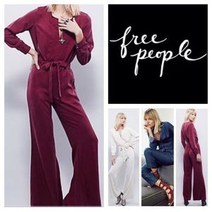 Free People Magnolia Burgundy Jumpsuit Sz S